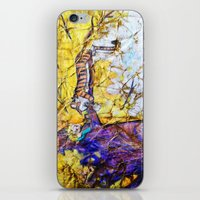 hobbes iPhone & iPod Skins featuring Calvin and Hobbes by Shannon Valentine