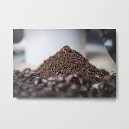 Grounded coffee Metal Print