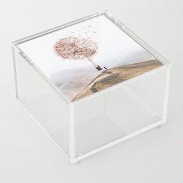 Flying Dandelion Acrylic Box
