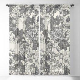 SKULLS 4 HALLOWEEN SKULL Sheer Curtain