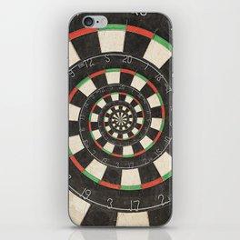 Spiral Dartboard Droste Effect iPhone Skin