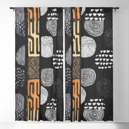 African Tribal Pattern No. 120 Blackout Curtain
