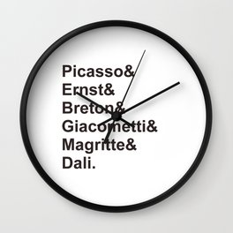 Surrealists Wall Clock