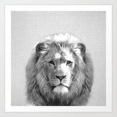 Lion - Black & White Art Print