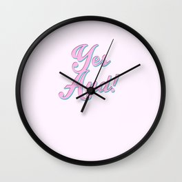 Yes And! Wall Clock