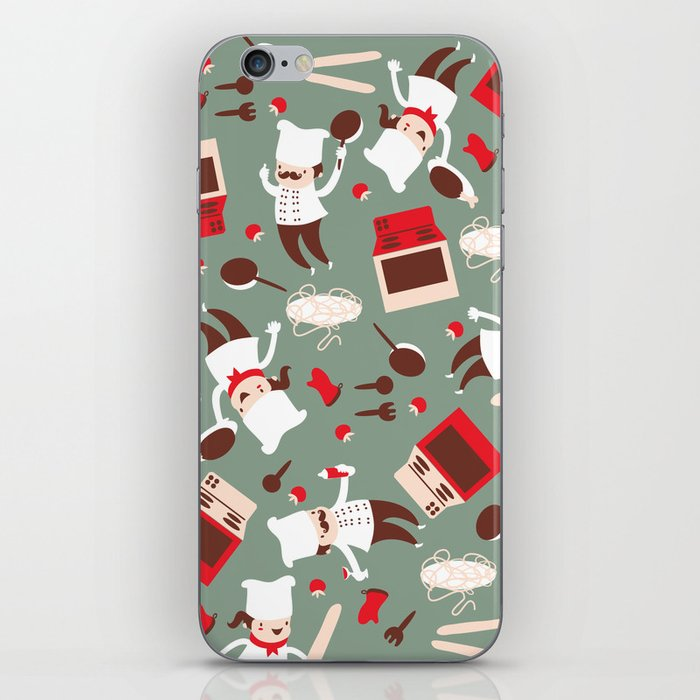 Chef pattern iPhone Skin
