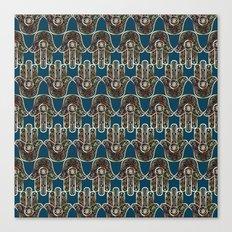 Hamsa Mosaic Pattern Canvas Print
