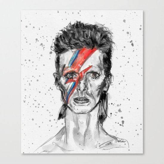 Bowie Inspired David in BW Canvas Print