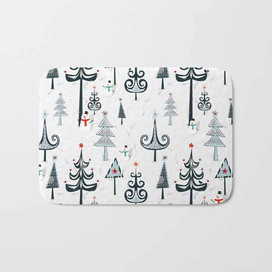 Christmas Tree Forest Bath Mat