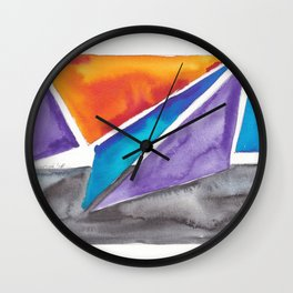 180819 Geometrical Watercolour 1| Colorful Abstract | Modern Watercolor Art Wall Clock