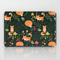 foxes iPad Cases featuring Foxes by Julia Badeeva