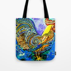Crazy Chicken Tote Bag
