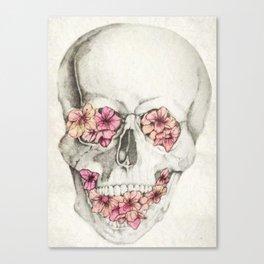 Cereza Skull Canvas Print