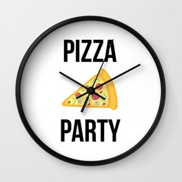 Pizza Party Funny Slice Design Wall Clock