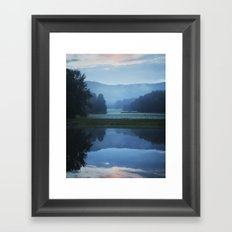 Sunset in the Great Smoky Mountains Framed Art Print