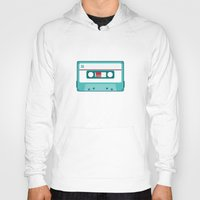 cassette Hoodies featuring #54 Cassette by Brownjames Prints