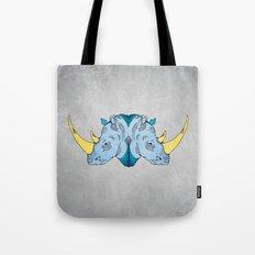 Double Trouble - Rhino Tote Bag