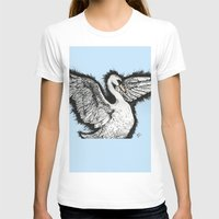 swan T-shirts featuring Swan by MelPetrinack