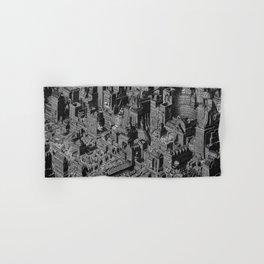 The Fantasy City. Urban Landscape Illustration. Hand & Bath Towel