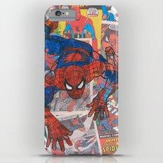 vintage comic spider man  iPhone 6 Plus Slim Case