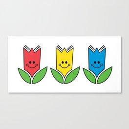 Flowers Of Primary Colors - Fleurs Aux Couleurs Primaires Canvas Print