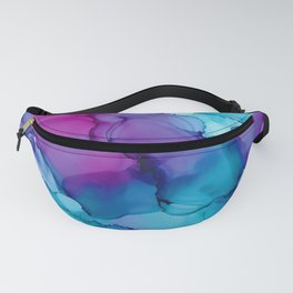 Alcohol Ink - Wild Plum & Teal Fanny Pack