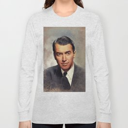 Jimmy Stewart, Movie Legend Long Sleeve T-shirt