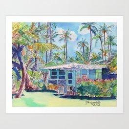 Kauai Blue Cottage 2 Art Print