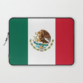 The Mexican national flag - Authentic high quality file Laptop Sleeve
