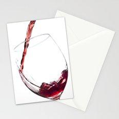 Elegant Red Wine Photo Stationery Cards