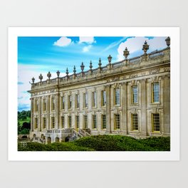 Chatsworth House. Art Print