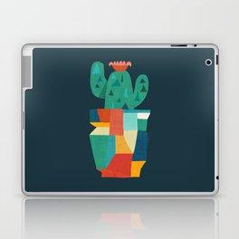 Blooming cactus in cracked pot Laptop & iPad Skin