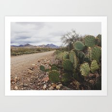 dirt roads Art Print