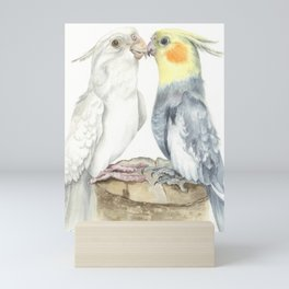 Love parrots Mini Art Print