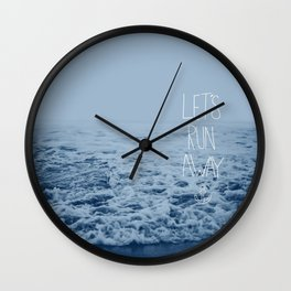Let's Run Away: Ocean Wall Clock