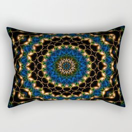 Streams Light Mandala Rectangular Pillow