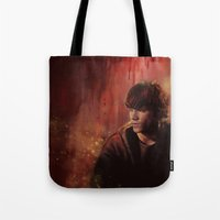 sam smith Tote Bags featuring Sam by Amanda Shae