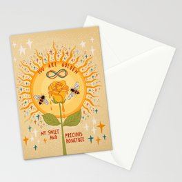 You are golden Stationery Cards