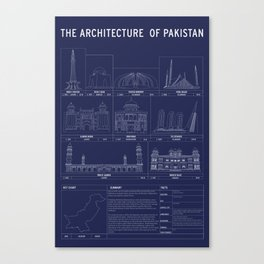 The Architecture of Pakistan Canvas Print