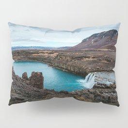 Lake Mountain sky blue Pillow Sham