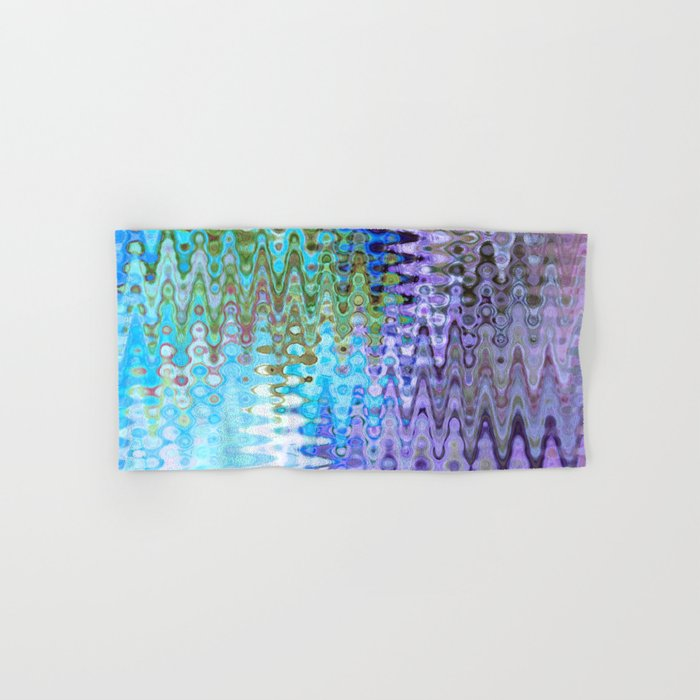 Charming Distractions, Abstract Art Waves Hand & Bath Towel