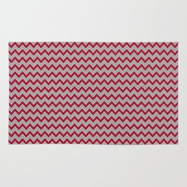 University of Alabama colors chevron zig zag minimal pattern college football sports Rug