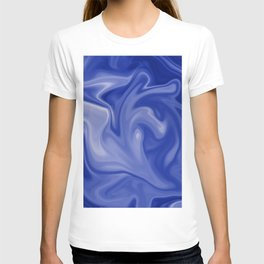 Marble Blues White T-shirt