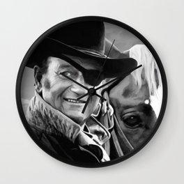 John Wayne @ True Grit #1 Wall Clock