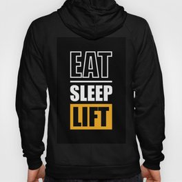 Lab No. 4 - Eat Sleep Lift Gym Inspirational Quote Poster Hoody