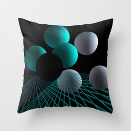 converging lines -2- Throw Pillow