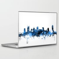 tennessee Laptop & iPad Skins featuring Nashville Tennessee Skyline by artPause