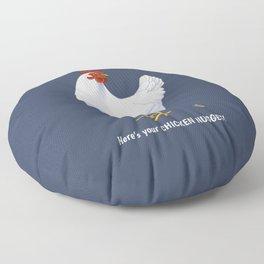 Funny White Hen Chicken Nugget Poop Floor Pillow