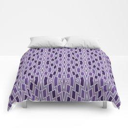 Fragmented Diamond Pattern in Violet Comforters
