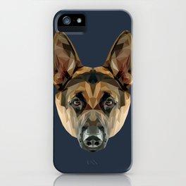 German Shepherd // Navy iPhone Case